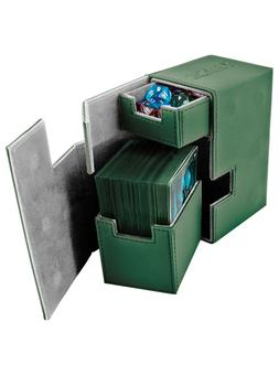 Ultimate Guard Flip 'N' Tray Deck Case 80+ Standard Size Xenoskin Green