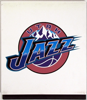 Utah Jazz 2004 NBA Draft Board Team Logo Panels