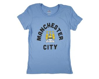 Manchester City F.C Majestic Coastal Blue Tee Shirt