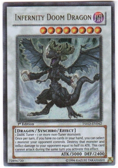 Yu-Gi-Oh Shining Darkness Single Infernity Doom Dragon Ultra Rare