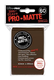 Ultra Pro Small-Size Pro-Matte Deck Protector Sleeves - Brown 10-Box Case (6000ct)