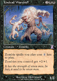 Magic the Gathering Time Spiral Single Undead Warchief Foil
