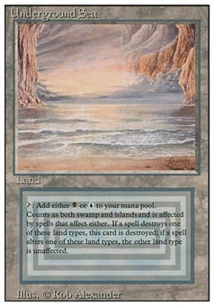 Magic the Gathering 3rd Ed. (Revised) Single Underground Sea - NEAR MINT / SLIGHT PLAY