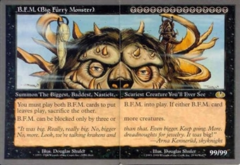 Magic the Gathering Unglued Single Big Furry Monster BFM (2 Cards) - SLIGHT PLAY (SP)