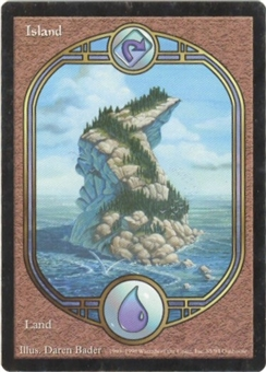 Magic the Gathering Unglued Single Island  (LAND) - NEAR MINT (NM)