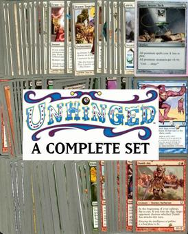 Magic the Gathering Unhinged A Complete Set UNPLAYED (w/ Super Secret Tech)