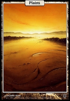 Magic the Gathering Unhinged Single Plains FOIL - SLIGHT PLAY (SP)