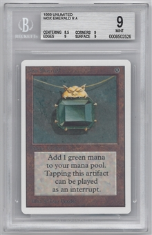 Magic the Gathering Unlimited Single Mox Emerald BGS 9.0 - *0008502526*
