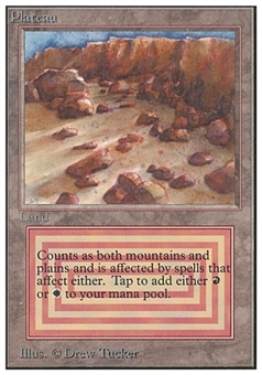 Magic the Gathering Unlimited Single Plateau - MODERATE PLAY (MP)