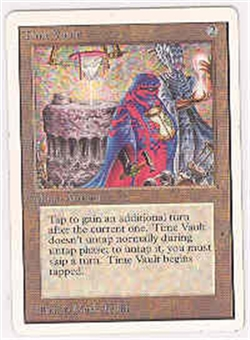 Magic the Gathering Unlimited Single Time Vault LIGHT PLAY (NM)