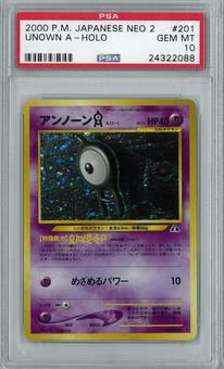 Pokemon Japanese Neo Discovery 2 Crossing the Ruins Unown A Holo Rare PSA 10