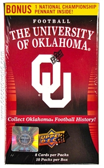 2011 Upper Deck University of Oklahoma Football 10-Pack Box