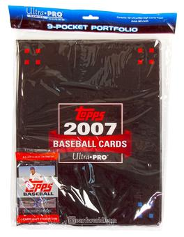 Ultra Pro Topps Baseball 9 Pocket Portfolio (10 pages +1 pack of 2007 Topps Baseball)