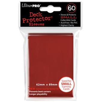 Ultra Pro Small Red Deck Protectors (60 Count Pack)