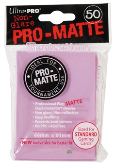 Ultra Pro Pink Pro-Matte Deck Protectors (50 count pack)