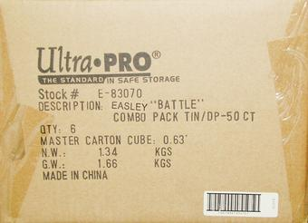 Ultra Pro Easley Final Stand Deck Vault & Deck Protectors Combo 6ct Case (50ct Box) - WOW !!!