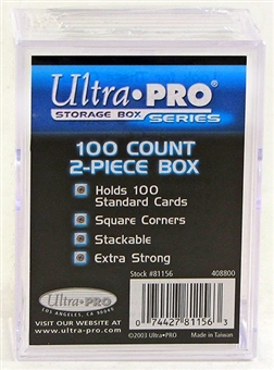 Ultra Pro 100 Count 2 Piece Plastic Box (200 Count Case)