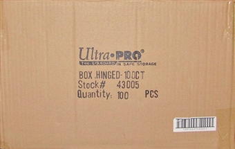 Ultra Pro 100 Count Plastic Box Hinged Snap Case (100 Count Case)