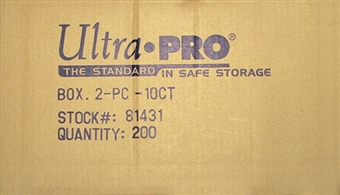 Ultra Pro 10 Count Plastic 2-Piece Storage Box (200 Count Case)