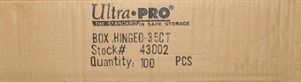 Ultra Pro 35 Count Plastic Box Hinged Snap Case (100 Count Case)