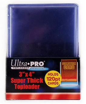 Ultra Pro 3x4 Super Thick 120pt. Toploaders (10 Count Pack)