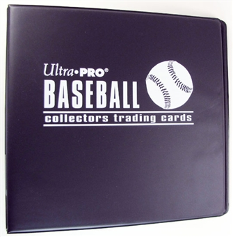 "Ultra Pro 3"" Black Baseball Card Collectors Album"