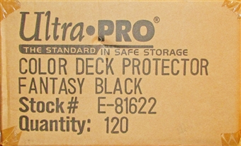 Ultra Pro Fantasy Black Standard Deck Protectors Case - 120 Packs