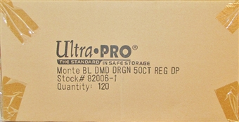 Ultra Pro Blue Diamond Dragon Standard Deck Protectors Case - 120 Packs