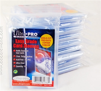 Ultra Pro Easy Grade Card Sleeves 100 Count Pack (Lot of 10)