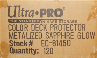 Ultra Pro Sapphire Glow Standard Deck Protectors Case - 120 Packs