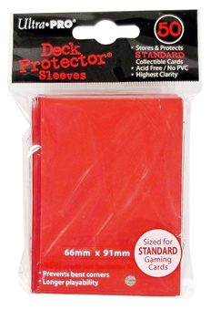 Ultra Pro Red Deck Protectors 50 Count Pack