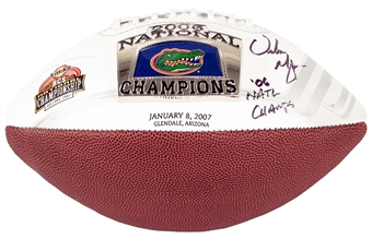 Urban Meyer Autographed University of Florida Gators 2006 National Champions Football