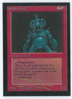 Magic the Gathering Beta Artist Proof Uthden Troll - SIGNED BY DOUGLAS SHULER