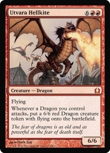 Magic the Gathering Return to Ravnica Single Utvara Hellkite - NEAR MINT (NM)