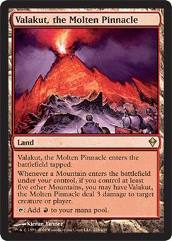 Magic the Gathering Zendikar Single Valakut, the Molten Pinnacle UNPLAYED (NM/MT)