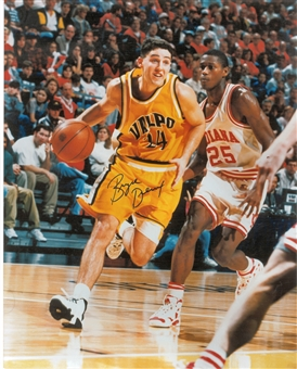 Bryce Drew Autographed Valparaiso Crusaders 8x10 Photo (Press Pass)