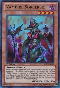 Yu-Gi-Oh Shadow Specters 1st Edition Single Vampire Sorcerer Ultra Rare