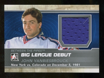 2012/13 In the Game Between The Pipes Big League Debut Jerseys Silver #BL24 John Vanbiesbrouck* /100