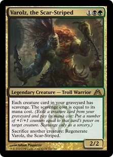 Magic the Gathering Dragon's Maze Single Varolz, the Scar-Striped - NEAR MINT (NM)