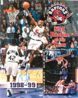 "Vince Carter Autographed Toronto Raptors ""Rookie of the Year"" 8x10 Photo (Press Pass)"