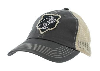 VCU Rams Top Of The World Slated Gray Snapback Hat (Adult One Size)