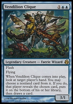 Magic the Gathering Morningtide Single Vendilion Clique - MODERATE PLAY (MP)