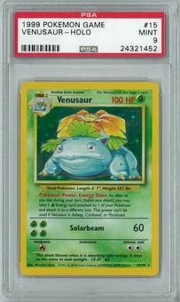 Pokemon Base Set Unlimited Venusaur 15/102 Holo Rare PSA 9