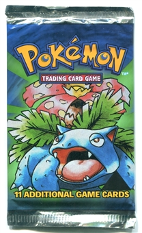 Pokemon Base Set 1 Black Triangle Error Booster Pack - VENUSAUR ART