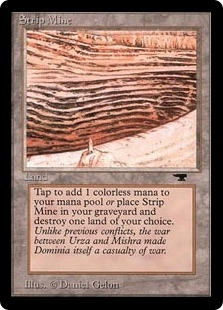 Magic the Gathering Antiquities Single Strip Mine (No Sky, Tower) UNPLAYED (NM/MT)