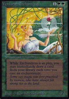 Magic the Gathering Alpha Single Verduran Enchantress - MODERATE PLAY (MP)
