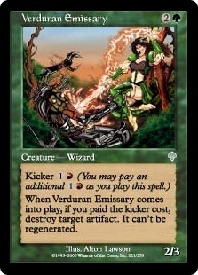 Magic the Gathering Invasion Single Verduran Emissary Foil