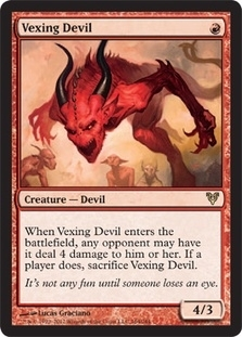 Magic the Gathering Avacyn Restored Single Vexing Devil - SLIGHT PLAY (SP)