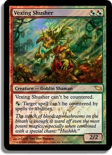 Magic the Gathering Promo Single Vexing Shusher Foil (Release)