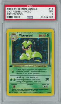 Pokemon Jungle 1st edition Victreebel 14/64 Holo Rare PSA 7